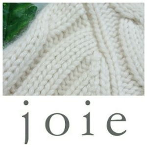 JOIE 100%CASHMERE HOODED CROPPED  CARDIGAN